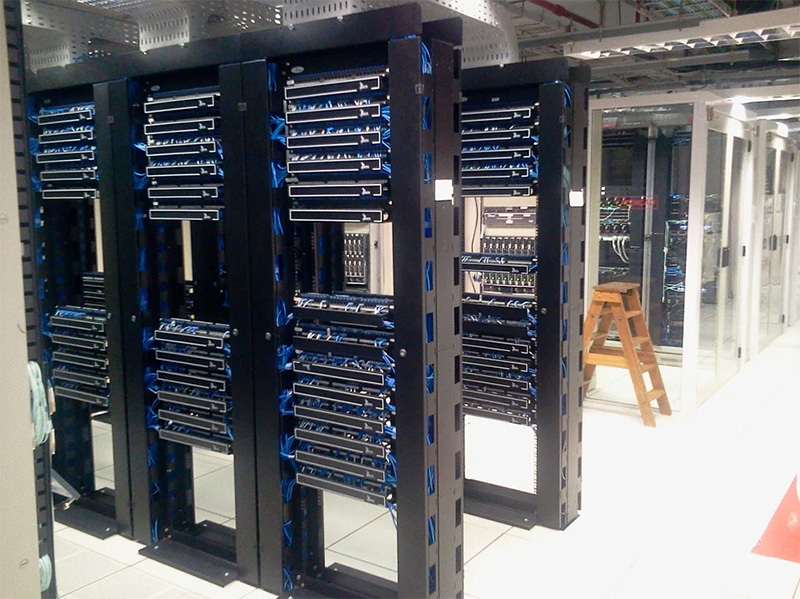 The worldwide availability of data centers like this one is only one reason for using AWS hosting.