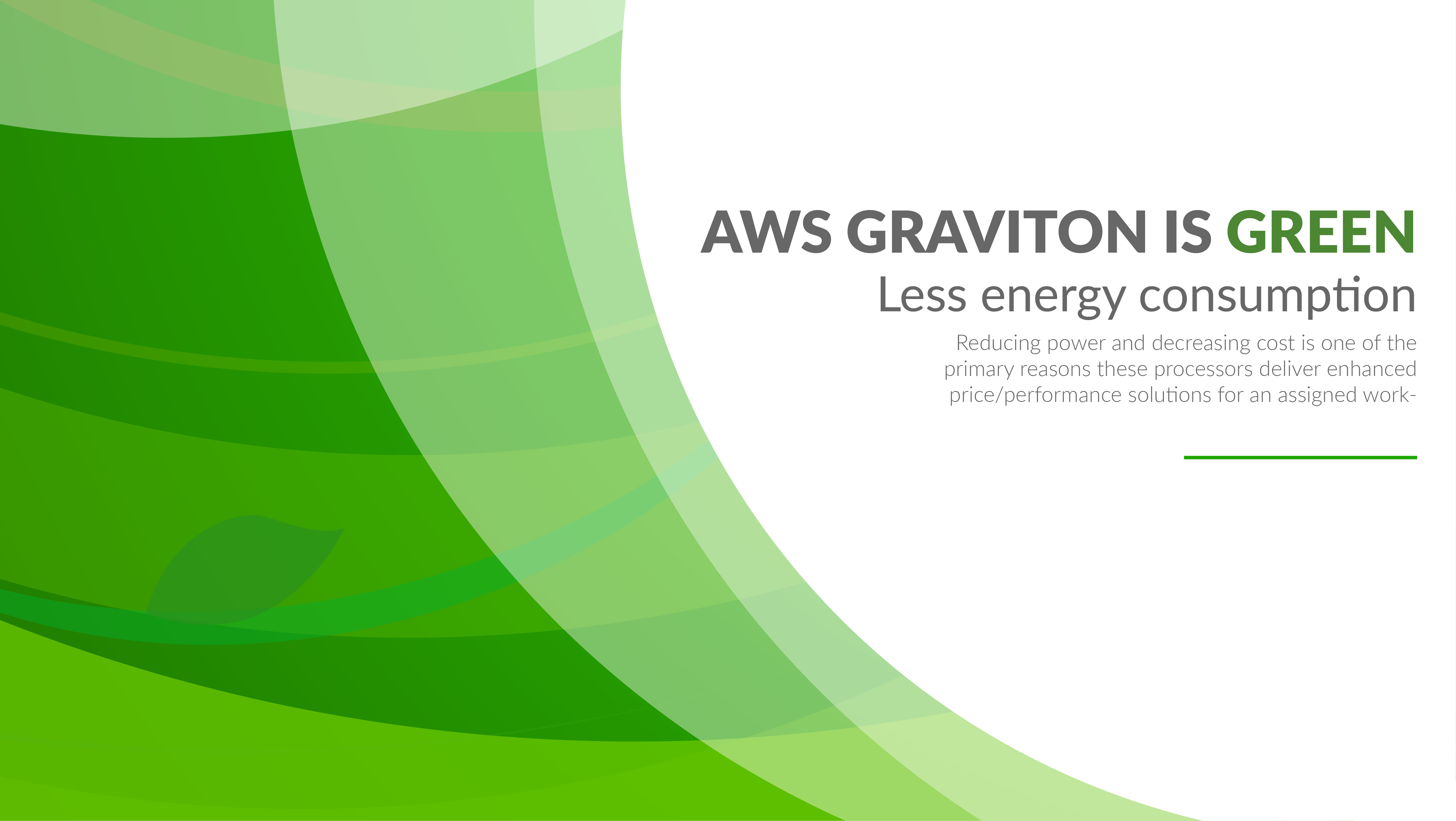 AWS Graviton is Green - Consumes Less energy