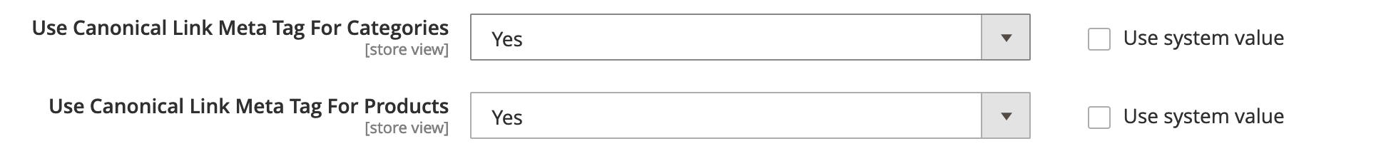 Magento Canonical URLs